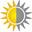 Sol - halvskygge